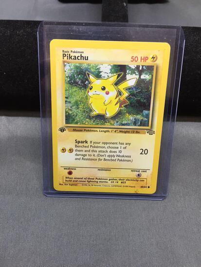 Vintage Pokemon Jungle 1st Edition PIKACHU Trading Card