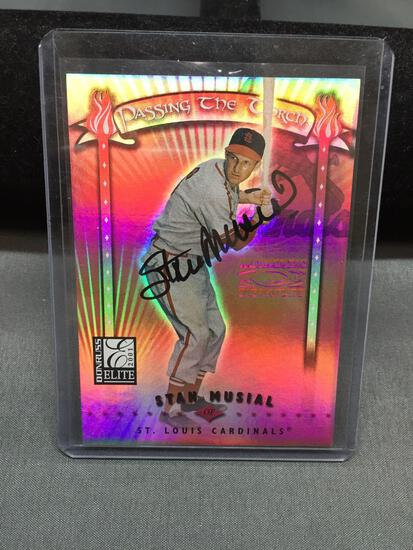 2001 Donruss Elite Passing the Torch STAN MUSIAL Cardinals AUTOGRAPH Baseball Card /100 - Rare