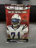 Factory Sealed 2007 Topps Total Football 10 Card Pack from Hobby Box - Adrian Peterson Rookie?