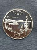 United States PROOF 90% Silver State Quarter from COIN STORE HOARD - Oregon