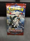Factory Sealed Pokemon SUN & MOON CRIMSON INVASION 10 Card Booster Pack