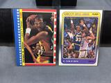 2 Card Lot of KAREEM ABDUL-JABBAR Lakers Vintage Basketball Cards - 1988-89 Fleer & 1987-88 Fleer