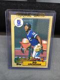 1987 Topps #170 BO JACKSON Royals ROOKIE Baseball Card