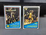 2 Card Lot of Vintage Early 1970's Wilt Chamberlain Lakers Basketball Cards