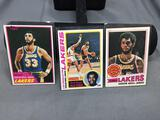 3 Card Lot of Vintage KAREEM ABDUL-JABBAR Lakers Basketball Cards from Collection