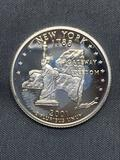United States PROOF 90% Silver State Quarter from COIN STORE HOARD - New York