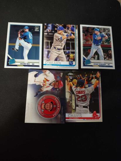 Baseball card lot of 5
