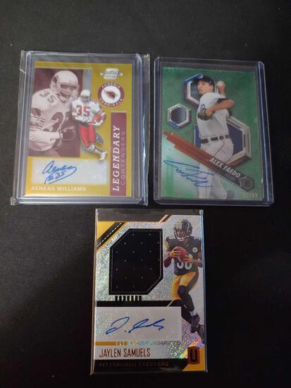 Autograph & jersey lot of 3