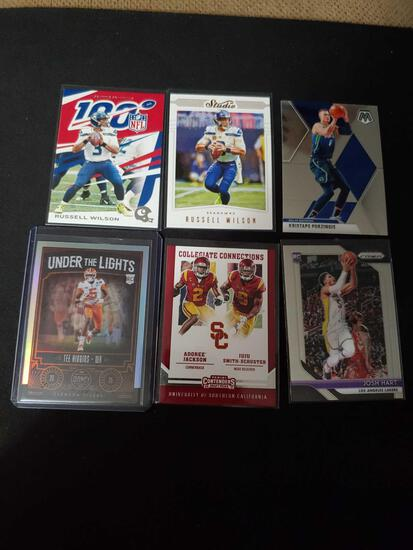 Sports card lot of 6