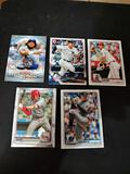 Sports card lot of 5