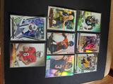 Football refractor and numbered card lot of 8