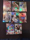 Baseball refractor lot of 8