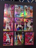 Baseball refractor lot of 9