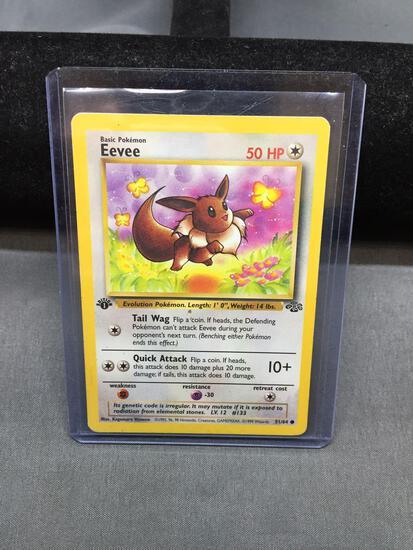Pokemon Jungle 1st Edition EEVEE Trading Card 51/64