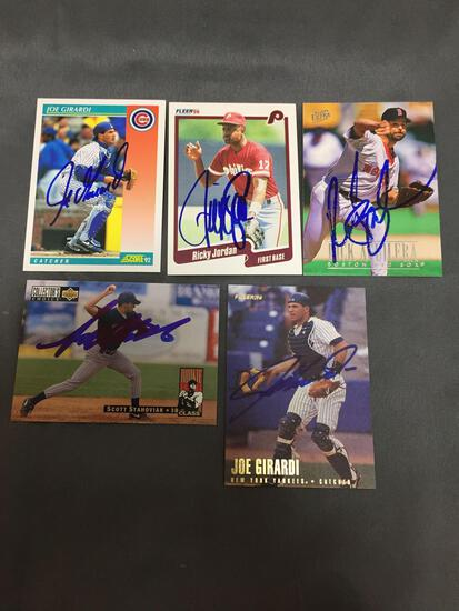 5 Card Lot of Hand Signed AUTOGRAPHED Sports Cards from HUGE AUTOGRAPH ESTATE - WOW