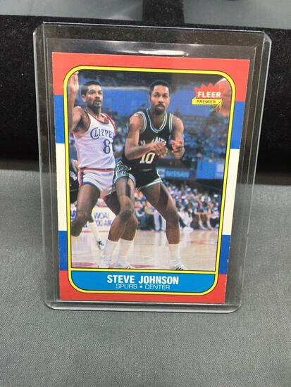 1986-87 Fleer #55 STEVE JOHNSON Spurs Vintage Basketball Card