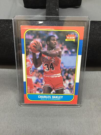 1986-87 Fleer #81 CHARLES OAKLEY Bulls Vintage Basketball Card