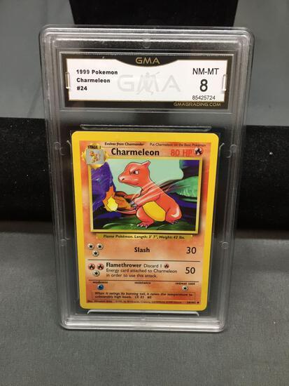 GMA Graded 1999 Pokemon Base Set Unlimited CHARMELEON Trading Card - NM-MT 8