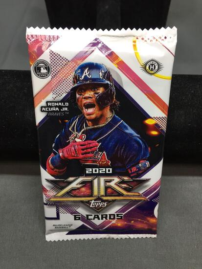 Factory Sealed 2020 Topps Fire Baseball 6 Card Pack from Hobby Box