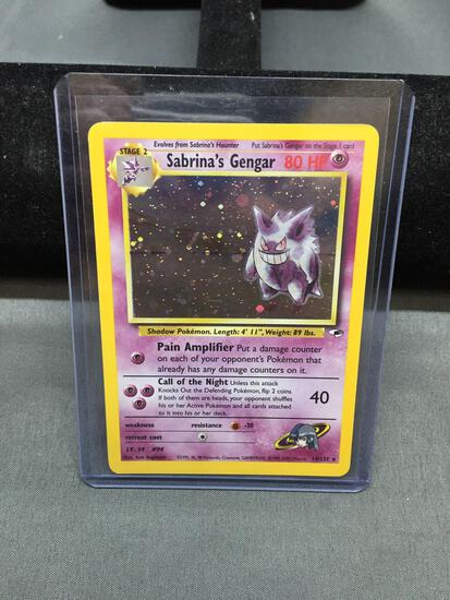 Pokemon Gym Heroes SABRINA'S GENGAR Holofoil Rare Trading Card 14/132