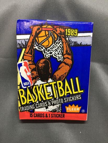 Factory Sealed 1989-90 Fleer Basketball 15 Card & 1 Sticker Pack - Michael Jordan?