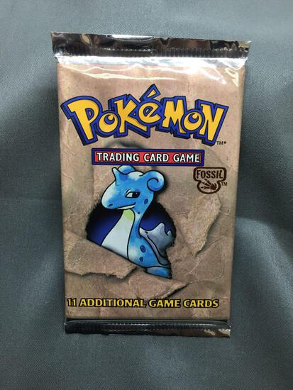 Factory Sealed Pokemon Fossil Unlimited 11 Card Booster Pack - 20.7 Grams