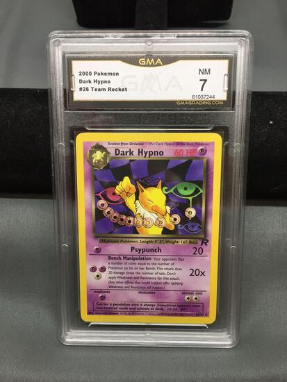 GMA Graded 2000 Pokemon Team Rocket DARK HYPNO Rare Trading Card - NM 7