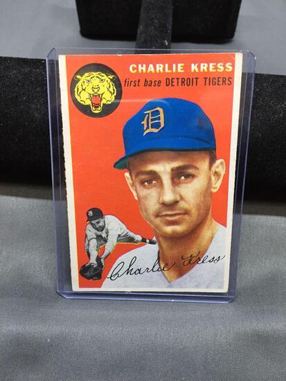 1954 Topps #219 CHARLIE KRESS Tigers Vintage Baseball Card