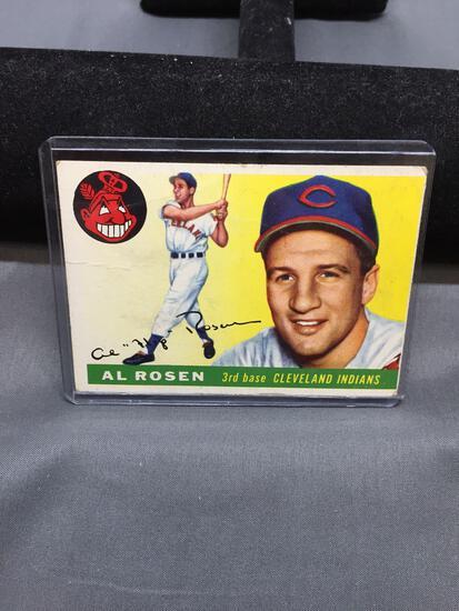 1955 Topps #70 AL ROSEN Indians Vintage Baseball Card