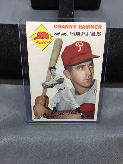 1954 Topps #24 GRANNY HAMNER Phillies Vintage Baseball Card