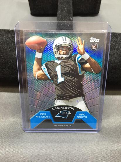 2011 Topps Finest CAM NEWTON Panthers ROOKIE Football Card
