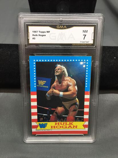 GMA Graded 1987 Topps WWF Wrestling HULK HOGAN Wrestling Card - NM 7