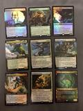 9 Card Lot of Magic the Gathering GOLD SYMBOL Rare Cards with Foils from Collection