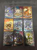 9 Card Lot of Vintage Topps Chrome Pokemon Cards from Huge Pokemon Hoard - WOW