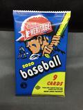 Factory Sealed 2020 Topps Heritage Baseball 9 Card Hobby Pack