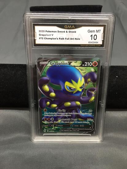 GMA Graded 2020 Pokemon Champion's Path GRAPPLOCT V Holofoil Full Art Rare Trading Card - GEM MINT
