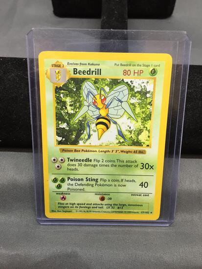 Pokemon Base Set Shadowless BEEDRILL Trading Card 17/102