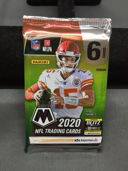 Factory Sealed 2020 Panini Mosaic Football 6 Card Pack - Justin Herbert Rookie?