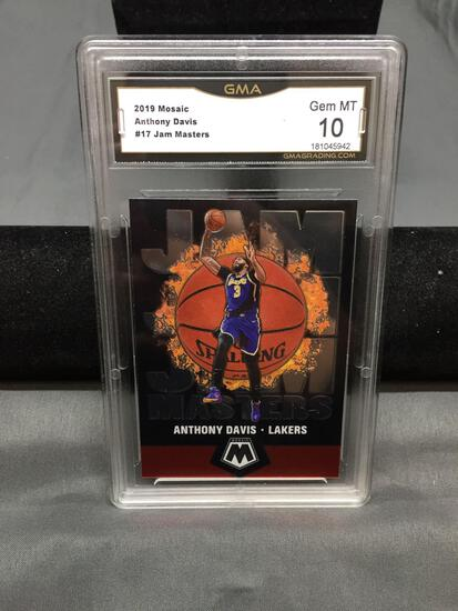 GMA Graded 2019-20 Panini Mosaic #17 ANTHONY DAVIS Lakers Jam Masters Basketball Card - GEM MINT 10