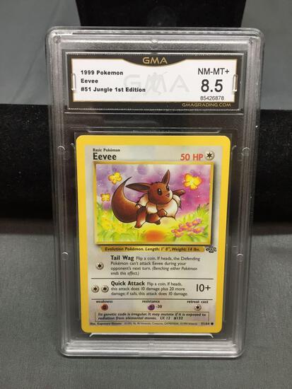 GMA Graded 1999 Pokemon Jungle EEVEE Trading Card - NM-MT+ 8.5