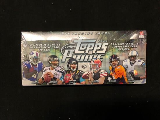 Factory Sealed 2014 Topps Prime Football Hobby Box