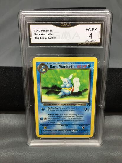 GMA Graded 2000 Pokemon Team Rocket #46 DARK WARTORTLE Trading Card - VG-EX 4