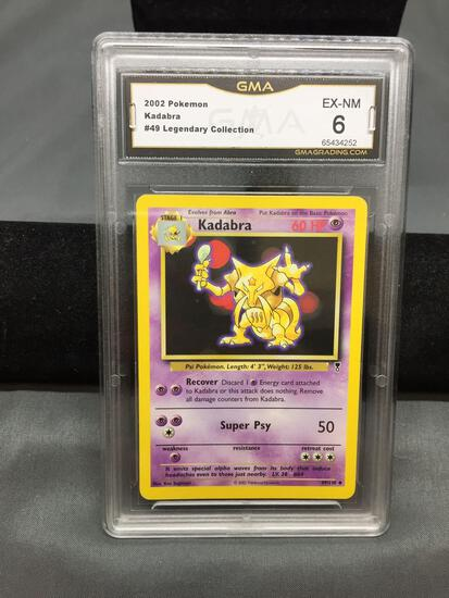 GMA Graded 2002 Pokemon Legendary Collection #49 KADABRA Trading Card - EX-NM 6