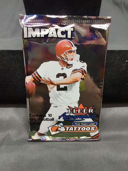 Factory Sealed 2000 Skybox Impact Football 10 Card Pack from Hobby Box - TOM BRADY ROOKIE?