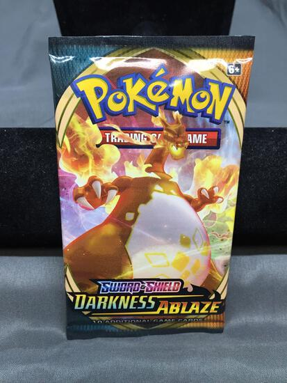 Factory Sealed Pokemon Sword & Shield DARKNESS ABLAZE 10 Card Booster Pack