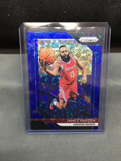 2018-19 Panini Prizm Blue Disco Prizm #34 JAMES HARDEN Rockets Basketball Card /175
