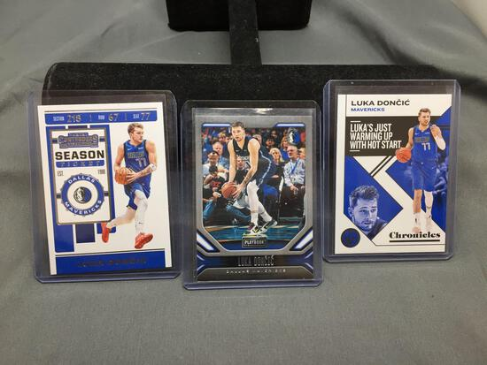 3 Card Lot of 2019-20 LUKA DONCIC Mavs Basketball Cards -2nd Year Cards