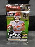Factory Sealed 2020 Panini Mosaic Football 4 Card Pack - Joe Burrow Rookie?