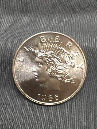 Peace Silver Dollar 1986 Style 1 Ounce .999 Fine Silver Bullion Round