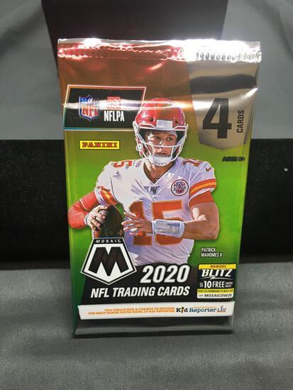 Factory Sealed 2020 Panini Mosaic NFL Football 4 Card Pack - Burrow, Herbert, Tua RC?